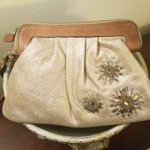 NWT Fossil Leather Clutch/Wristlet